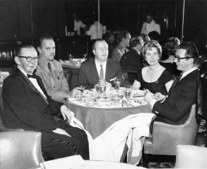 From Left to Right: Cy Walter, Alec Wilder; George Shearing; Trixie Shearing; and Rogers Brackett