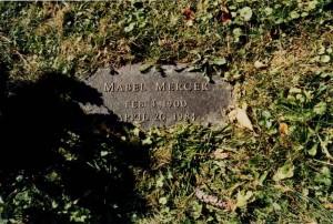 Mabel Mercer's Gravestone