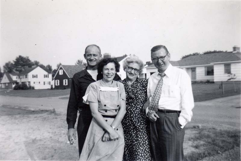 Ray, Carol, Flossie and Cy, 1950's