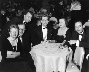 St. Regis Hotel; left to right, Margaret Perrin; Cy Walter; Ted Straeter; Forrest Perrin; Dorothy Norman; and Stan Freeman