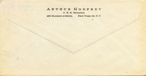 Arthur Godfrey To Cy Walter 07.13.1959 Envelope Back