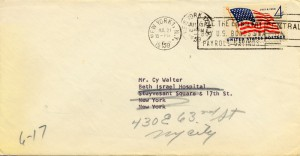 Arthur Godfrey To Cy Walter 07.13.1959 Envelope Front