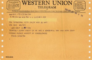 Frank Sinatra To Cam 08.22.1968