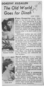 Dorothy Kilgallen New York Column 07.23.1959