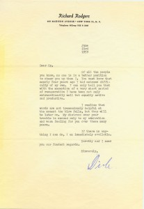 Richard Rodgers To Cy Walter 06.23.1959