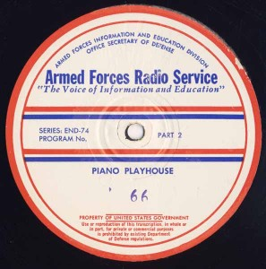 Piano Playhouse AFRS Transcription Disc Program No. 66 Part 2