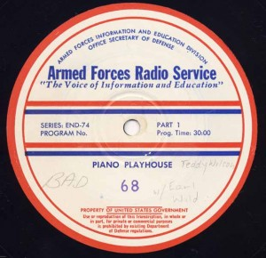 Piano Playhouse AFRS Transcription Disc Program No. 68 Part 1
