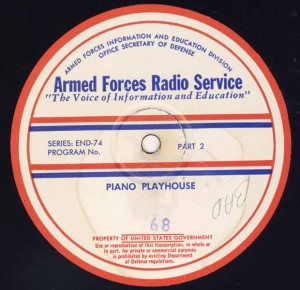 Piano Playhouse AFRS Transcription Disc Program No. 68 Part 2