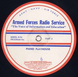 Piano Playhouse AFRS Transcription Disc Program No. 6 Part 2