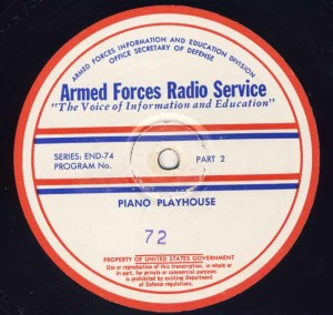 Piano Playhouse AFRS Transcription Disc Program No. 72 Part 2