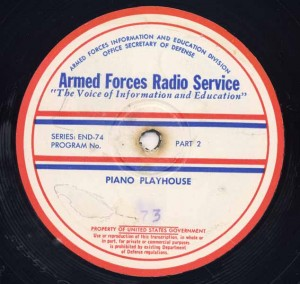 Piano Playhouse AFRS Transcription Disc Program No. 73 Part 2