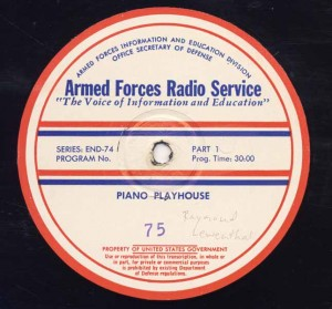 Piano Playhouse AFRS Transcription Disc Program No. 75 Part 1