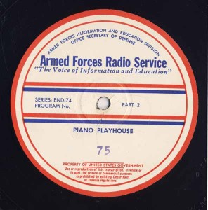 Piano Playhouse AFRS Transcription Disc Program No. 75 Part 2