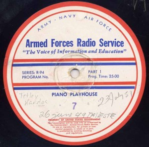 Piano Playhouse AFRS Transcription Disc Program No. 7 Part 1