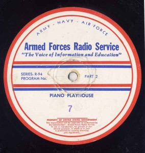 Piano Playhouse AFRS Transcription Disc Program No. 7 Part 2