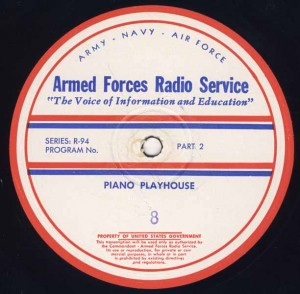 Piano Playhouse AFRS Transcription Disc Program No. 8 Part 2