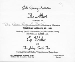 The Albert 10.25.1951