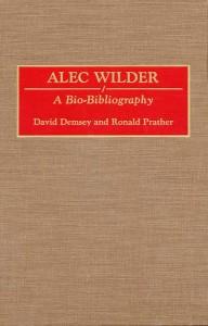 Alec Wilder A Bio-Bibliography Cover