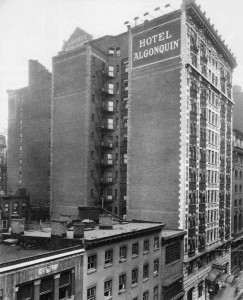 Hotel Algonquin Brown Brothers Side View Photo 1920s