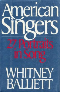 American Singers 27 Portraits In Song Cover