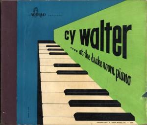 Cy Walter At The Drake Room Piano Apollo 78rpm Cover