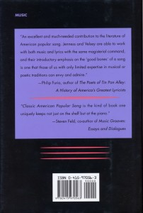 Classic American Popular Song Back Cover