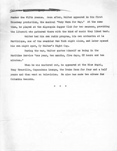 CBS Biographical Service Cy Walter Draft 08.29.1950 Page 3