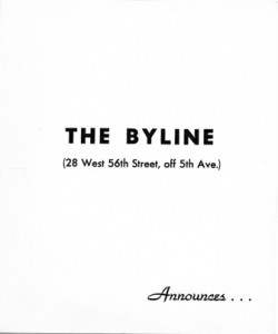 The Byline Room 12.04.1956 Cover
