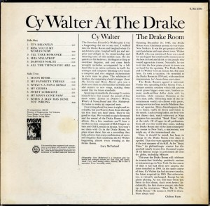 Cy Walter At The Drake LP Back Cover