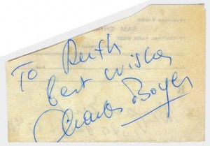 Charles Boyer's Autograph