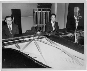 Piano Playhouse Show Studio Photo Of Cy And Stan At Duo Keyboards Undated
