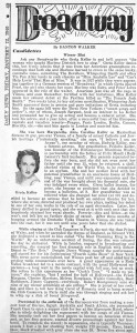 New York Daily News 01.12.1940 Greta Keller Biography