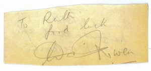 David Niven's Autograph
