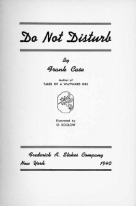 Do Not Disturb Title Page