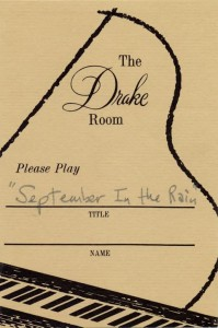 Drake Room 1966 Please Play Requested Song Card No. 4