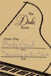 Drake Room 1966 Please Play Requested Song Card No. 6