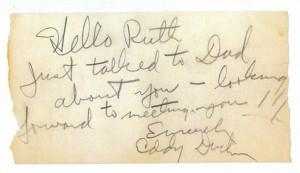 Eddy Duchin's Autograph