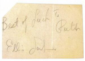 Ellis Larkin's Autograph