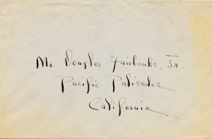 Maggie Case Harriman To Douglas Fairbanks 05.10.1940 Envelope Front