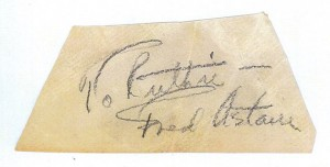 Fred Astaire's Autograph
