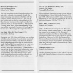 Richard Glazier Harold Arlen Hooray For Love CD Liner Notes Pages 4 and 5