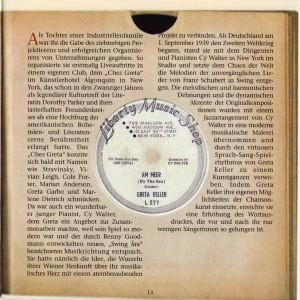 Greta Keller Bear Family Records CD Liner Notes Page 13