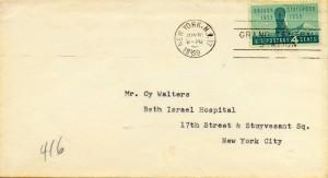 Oscar Hammerstein II To Cy Walter 06.29.1959 Envelope Front