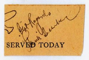 Hank Greenberg's Autograph