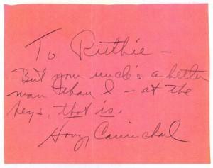 Hoagy Carmichael's Autograph