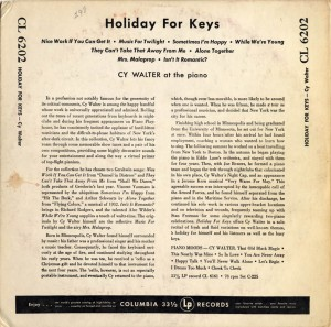 Holiday For Keys Back Cover