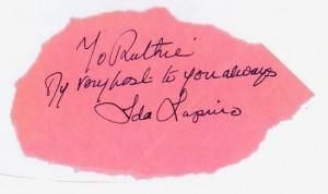 Ida Shapiro's Autograph