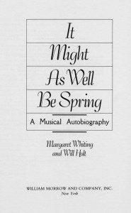 It Might As Well Be Spring Title Page