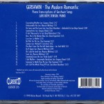 Lars Boye Jensen Gershwin The Modern Romantic CD Back Cover