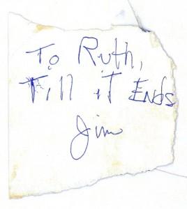 Jim's Autograph